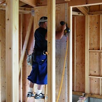 耐力壁・構造用合板の打ち付け