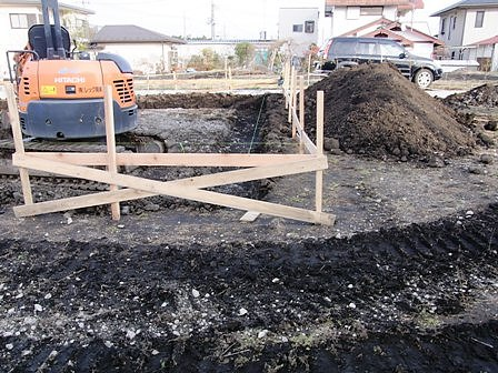 床掘り状況
