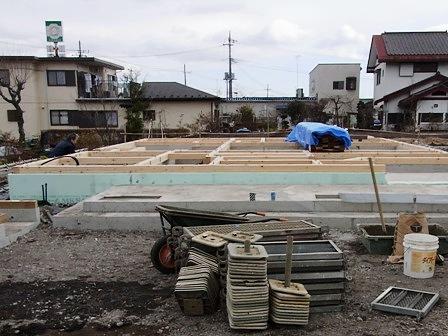 土台を敷いた基礎