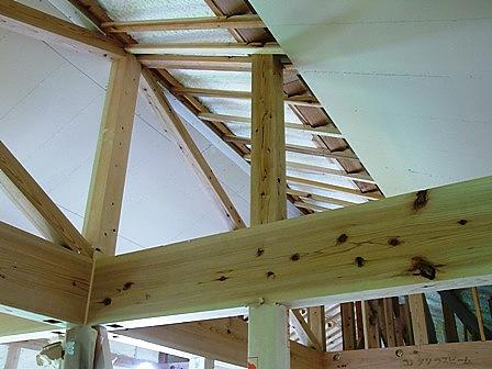 2階天井の下地組み