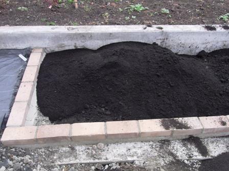 きめ細かな黒土