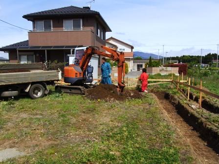 掘削の様子