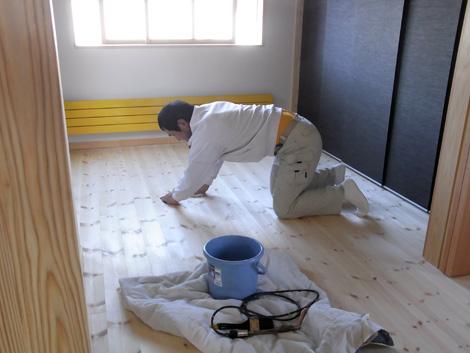 床オイル塗り仕上げ