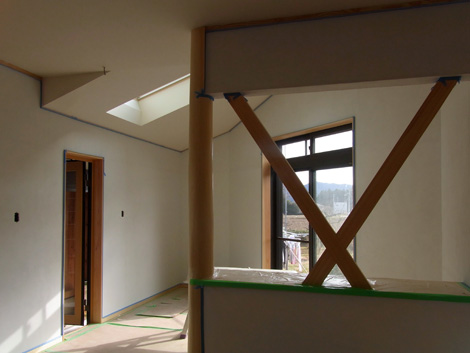 室内珪藻土塗り工事