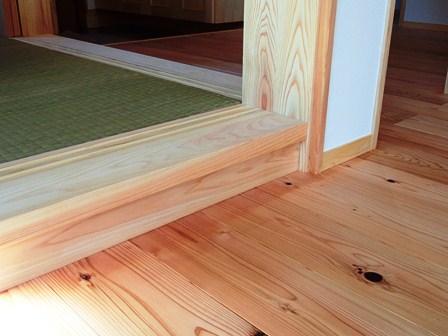 床の段差は12センチ