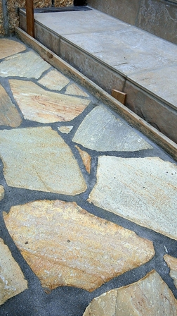 乱貼り石工事
