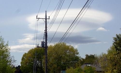 まさか、地震雲?