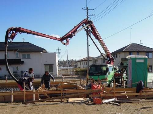 コンクリート打設の日