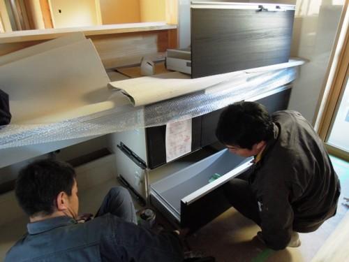 台所の設備配管