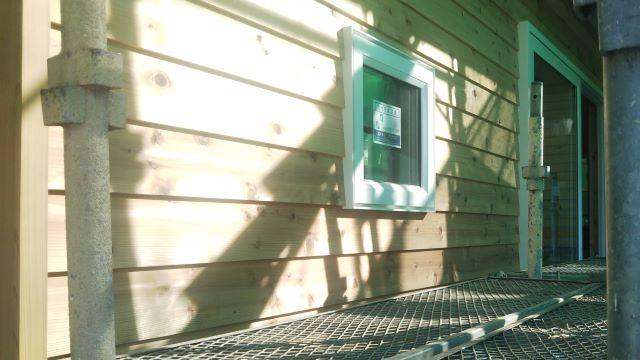 外壁板貼り